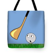 Frightened Golf Ball Tote Bag
