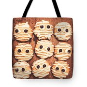 Frightened Mummy Baked Biscuits Tote Bag