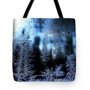Frigid Blue Morning Tote Bag