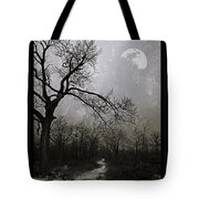 Frigid Moonlit Night Tote Bag