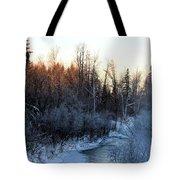 Frigid Sunrise Tote Bag