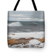 Frigid Waves Tote Bag