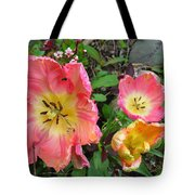 Fringed Tulips Tote Bag