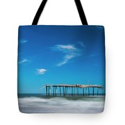 Frisco Fishing Pier In North Carolina Panorama Tote Bag