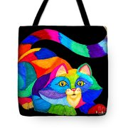 Frisky Cat Tote Bag