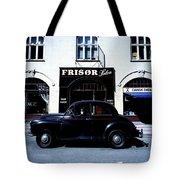 Frisor And Black Car  Copenhagen Denmark Tote Bag