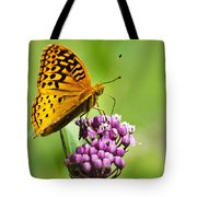 Fritillary Butterfly And Flower Tote Bag