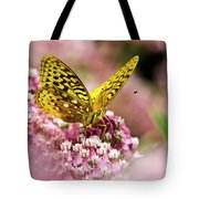 Fritillary Butterfly On Flowers Tote Bag