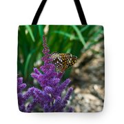 Fritllary Butterfly On Astilbe Tote Bag