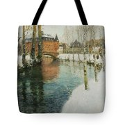 Frits Thaulow    A Chateau In Normandy Tote Bag