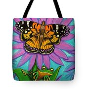 Frog And Butterfly Tote Bag