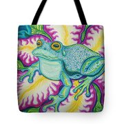 Frog And Flower Tote Bag