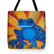 Frog And Lady Bug Tote Bag