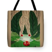 Frog And Silhouette Tote Bag