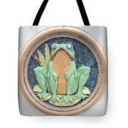 Frog Ceramic Plaque Tote Bag
