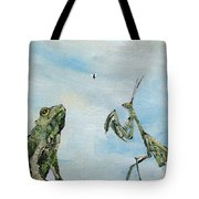 Frog Fly And Mantis Tote Bag by Fabrizio Cassetta