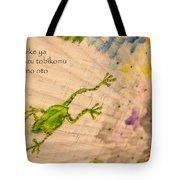 Frog - Haiku Tote Bag