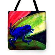 Frog On Leaf Tote Bag