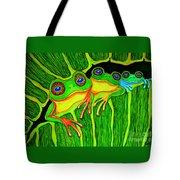 Froggie Trio Tote Bag