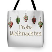 Frohe Weihnachten German Merry Christmas Tote Bag