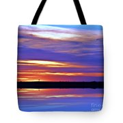 From A Distance  Sundown Tote Bag