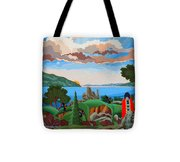 From A High Place, Troubles Remain Small Tote Bag