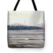 From Cramond To Forth Bridge, Forth Road Bridge, And Forth Crossing Tote Bag