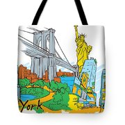 From Old To New York Tote Bag
