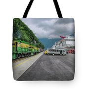 From Ship To Train Tote Bag