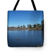 From The Bank Of The Lake In Eunice, Louisiana Tote Bag