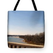 From The Bridge The Red River Tote Bag