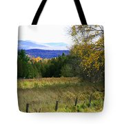 From The Field To The Mountains Tote Bag