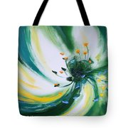 From The Heart Of A Flower Green Tote Bag