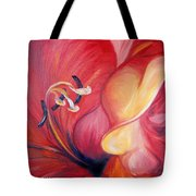 From The Heart Of A Flower Red Tote Bag