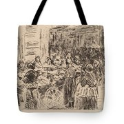 From The Jewish Quarter In Amsterdam: Fishmarket On The Street Corner Tote Bag
