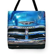 Front End Blue And Chrome Chevy Pick Up Tote Bag