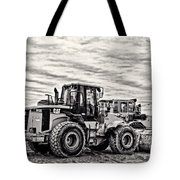 Front End Loader Black And White Tote Bag