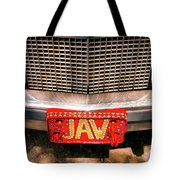 Front Of The Car - Grill And Plate Tote Bag