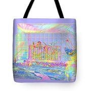 Front Porch At Sunrise Tote Bag