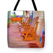 Front Porch On An Old Country House  1 Tote Bag