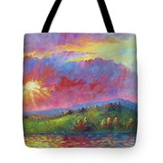 Front Range Sunset Tote Bag