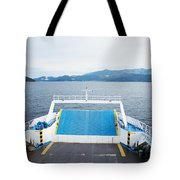 Front Side Of A Ferry  Tote Bag