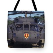 Front View Of An Army Hh-60 Pave Hawk Tote Bag by Michael Wood