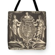 """Frontispiece For """"the Combat At The Barrier"""" Tote Bag"""