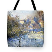 Frost Tote Bag by Claude Monet