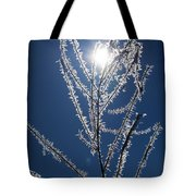 Frost Ice Crystals Tote Bag