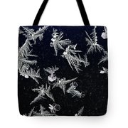 Frost On Car Window 4 Tote Bag by Roger Snyder