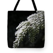 Frost On Pine Tote Bag