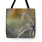Frost On The Stems Tote Bag