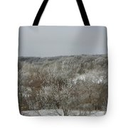 Frost On The Trees Tote Bag